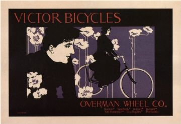Vintage Bicycles advertisment poster - Victor bicycles